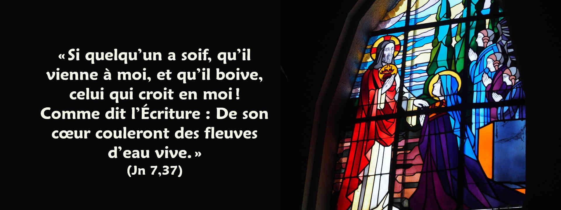 vitrail Aulnois Sacré-Cœur